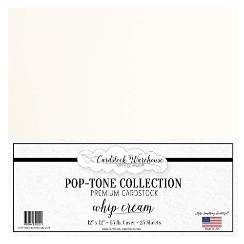 Whip Cream Cardstock Paper - 12 X 1…