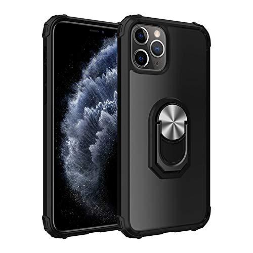 WYCcaseA Funda para iPhone 12/12 Mini/12 Pro MAX Carcasa Anti-Choques y Anti-Arañazos Carcasa TPU + PC Moda Teléfonos Case con 360 Anillo Iman Soporte Back Cover,Plata,12proMax