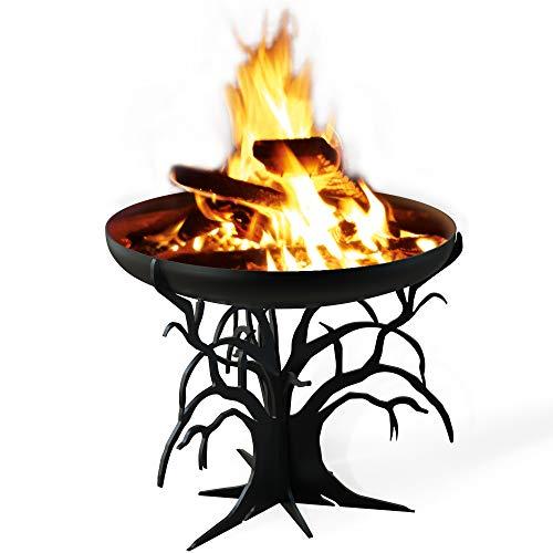 TE Feuerschale Baum, Ø 650 mm schwarz grundiert