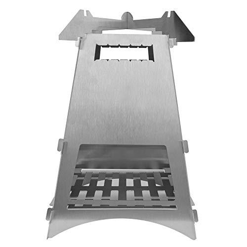 Weikeya Cámping Leña Cocina, con Inoxidable Acero 24x16.5x16.5 cm Madera Cocina Cámping Madera Cocina por Exterior Cámping Barbacoa