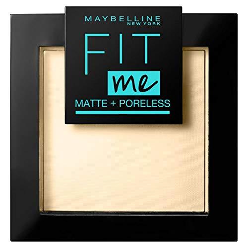 Maybelline New York FitMe Matt und Poreless Puder 115 Ivory, 1er Pack (1 x 9 g)