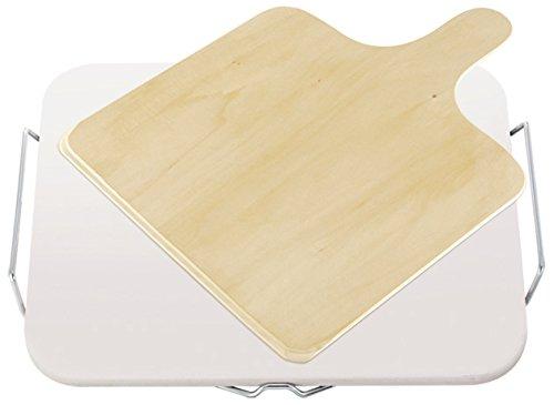 Leifheit Pierre Square - Bandeja de Pizza Cuadrada de cerámica, 38x30