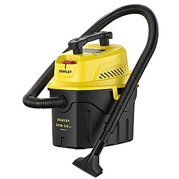 Stanley SL18910P-3 Wet/Dry 3 Gallon 3 Horsepower Portable Car Vacuum 3.0 HP AC Black+Yellow