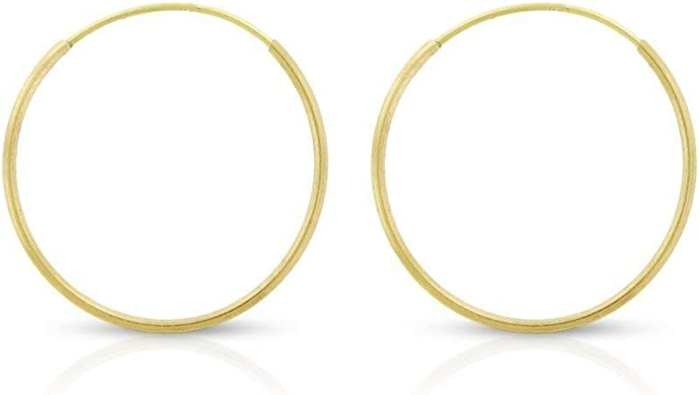 14k Solid Gold Endless Hoop Earrings Sizes 10mm - 20mm and 3-Pair Sets, 14k Gold Thin Hoop Earrings, Cartilage Earrings, Helix Earring, Nose Hoop, Tragus Earring, 100% Real 14k Gold