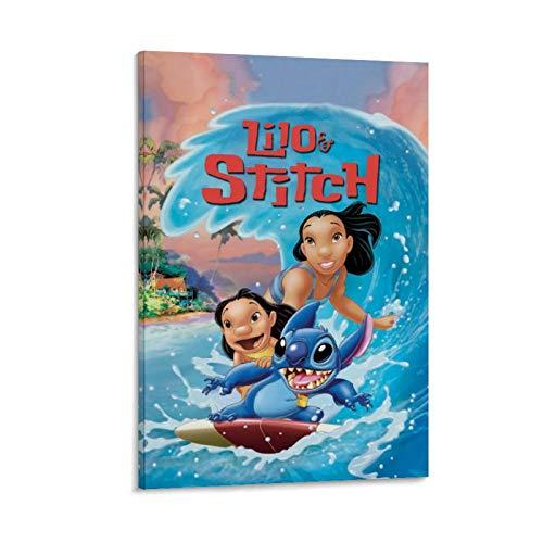 DRAGON VINES Póster de Lilo & Stitch para pared, diseño de películas populares de Lilo & Stitch