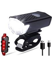 LED fiets licht set, USB oplaadbare voorlicht en achterlicht set, oplaadbare en waterdichte fiets licht, fiets licht LED, fiets lamp, fiets voorlicht, 3 licht modi voor mountainbike