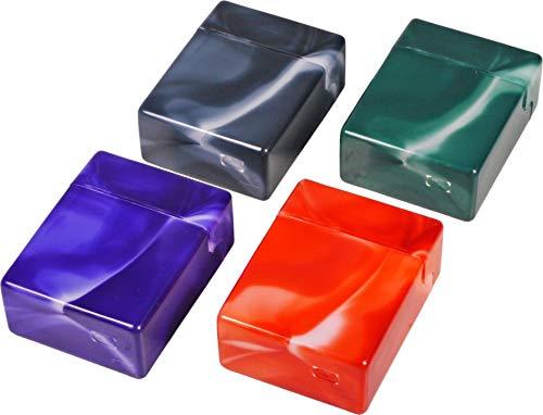 kogu 4er Set Zigarettenboxen Pop Up XXL Zigaretten Maxi Box ohne Steg, für 30 einzelne Zigaretten