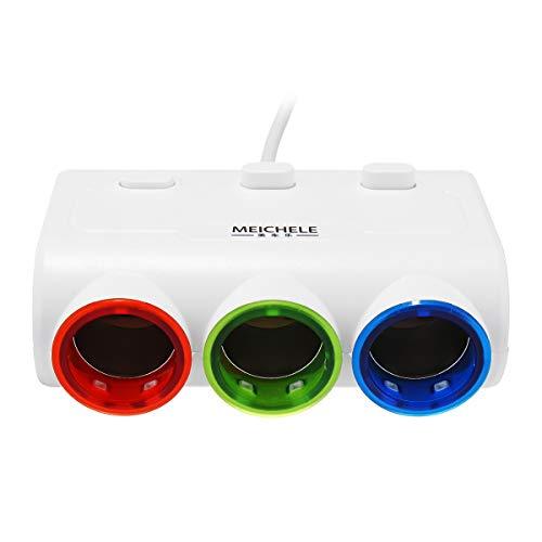 YONGYAO One En Tres USB Coche Teléfono Coche Cargador con Interruptor - Negro