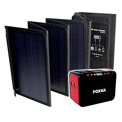 ポータブル電源 20000mAh ソーラーパネル 40W セット 1年保証 家庭用蓄電池 防災 停電対策 キャンプ 車中泊 アウトドア [XAA373XO827]