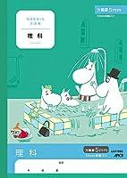 日本ノート(アピカ) ムーミン学習帳 理科 5mm方眼罫 10mm実線入り LUS10SC
