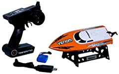 This newest USB-rechargeable electric RC speedboat from UDIRC will blow the others out of the water when it races by at 25 km/h (15 mph). It features a rugged ABS anti-tilt hull, and a water-cooled, single-prop powerful 370-size motor that combines s...