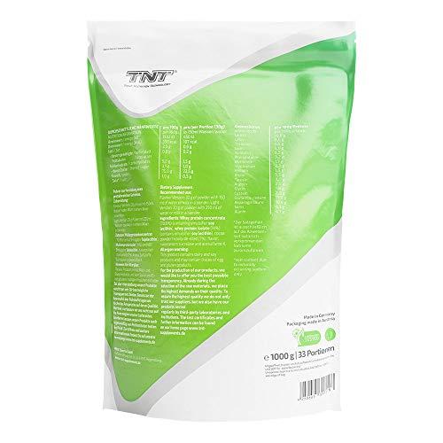 TNT True Whey (CHOCOLATE) – Whey Protein Konzentrat & Whey-Isolat – Post Workout Shake – Hohe Bioverfügbarkeit und hoher Anteil an Aminosäuren – BCAA – Proteinshake zum Muskelaufbau und Abnehemen -1000g Beutel - 2