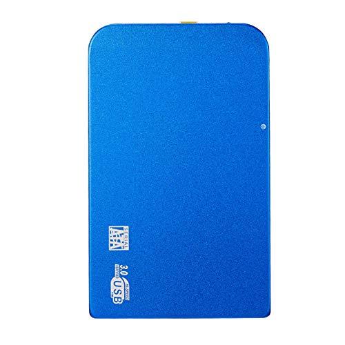 HWENJ Disco Duro Externo 500GB, 1TB,2TB USB 3.0 2.5 Pulgadas De Copia De Seguridad Portátil De Almacenamiento Externo De Datos HDD para Computadora Portátil,Macbook Pro,PS4,Windows(Azul)