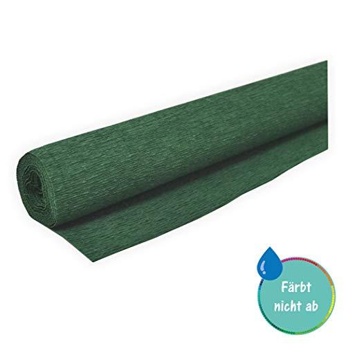 Floristen Krepppapier - Gärtnerkrepp grün 50 x 250 cm ca. 128 g/m² färbt nicht ab bei Kontakt mit Wasser - bleicht nicht aus bei Sonne