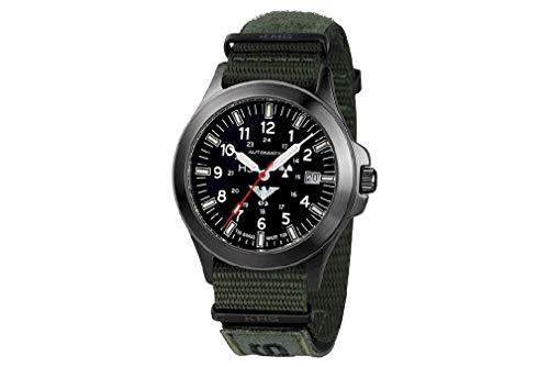 KHS Tactical Watches Black Platoon Titan Automatic KHS.BPTA.NXTO1 Titan IPB Nato XTAC Olive