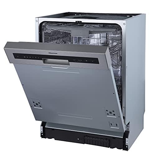 Hisense HI620D10X Geschirrspüler/ teilintegrierbar/ 60 cm/ 14 Maßgedecke/ TotalDry/ Innenraum aus Edelstahl/ AquaStop