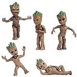 ZXWDIAAE Bobblehead 5PCS Pop Galaxy Guard Bobble HT Treeman Gruitt muñeca de la Historieta del Coche decoración Interior del Coche Decoración Set