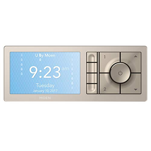 Moen U Shower Smart Home Connected Bathroom Controller, 4-Outlet Digital Wall Mounted, TS3304TB