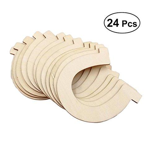 Healifty 24pcs Holzscheiben Scheiben Hufeisen Form unvollendete Holz Ausschnitte Handwerk DIY Dekoration