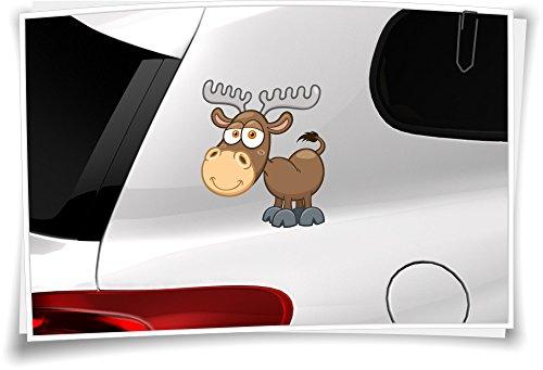 Medianlux Autoaufkleber Sticker Kinder Aufkleber Tierchen Baby Elch