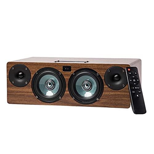ZEIYUQI Altavoz Bluetooth 60W de Alta Potencia para el Hogar Calidad de Sonido HiFi Subwoofer Sonido Estéreo Smart Compatible Teléfono Móvil PC,Etc.Entrada de Línea Dual Control Remoto,Yellow