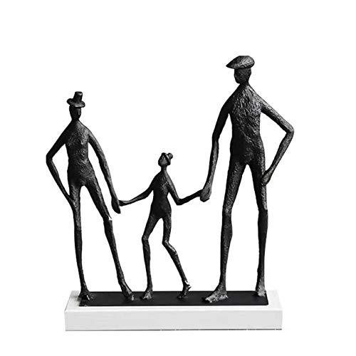 ZLHW Charakter Skulptur Dekoration, Abstrakte Kunst Modell Kreative Metall Antike Handwerk Home Desktop Fenster Schreibtisch Kreative Dekoration