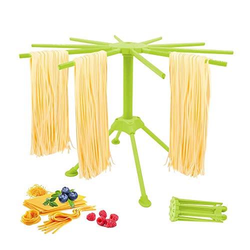 Pasta Wäschetrockner, zusammenklappbarer Pasta-Rack mit 10 Bar Griffe, Quick Set-Up Wschetrockner, Spaghetti Folding Wäschetrockner for Küche, einfache Lagerung