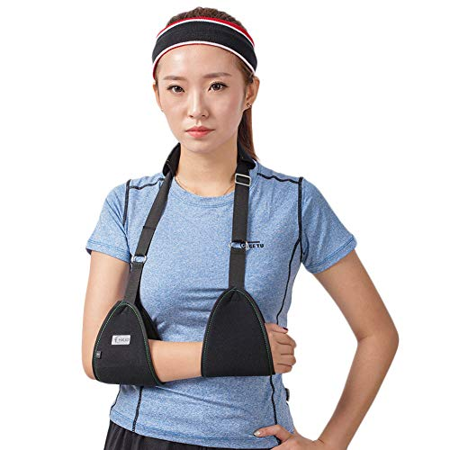 Triangle Dislocated Arm Sling Medical Shoulder Immobilizer Rotator Cuff Wrist Elbow Forearm Support Brace Strap with Soft Comfortable Padded Lightweight Simple for Broken & Fractured Arm