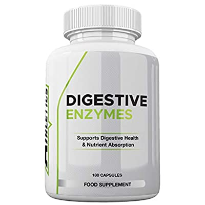 Digestive Enzymes by Freak Athletics - 180 Capsules Plant Based Ingredients - Supports Gut and Daily Digestive Health