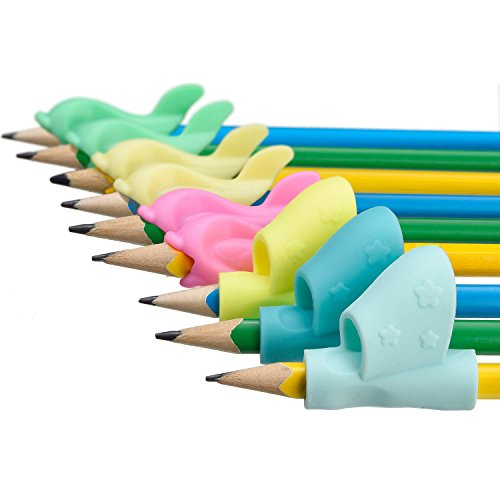 Sumind 9 Pieces Children Pencil Writing Grips Righthand Pencil Holder Writing Correction Claw Posture Tool
