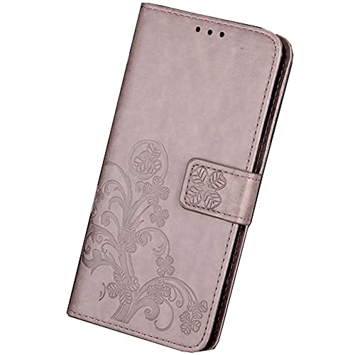 HONGGE Accesorios Funda de Cuero de la Billetera Flip para BQ AQUARIS V VS Plus UU2 Lite X5 Plus X X2 Pro C M4.5 M5 CUBIERTE (Color : 2Gray, Material : VS Plus)