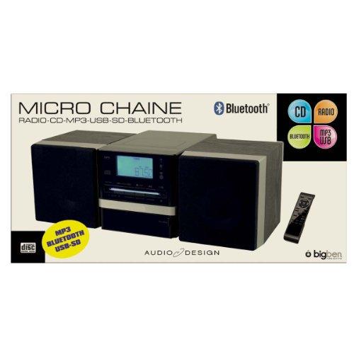Bigben Interactive MCD08 - Minicadena (CD, MP3, radio, USB, tarjeta SD, incluye...