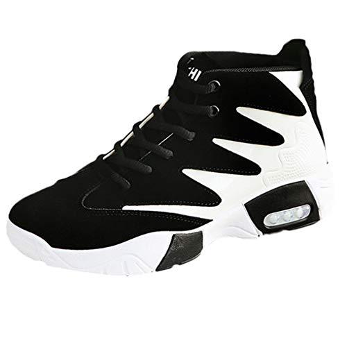 Dorical Herren Damen Laufschuhe Air Sneakers Sportschuhe Wanderschuhe Mode Freizeitschuhe rutschfeste Joggingschuhe Fitnessschuhe Outdoor Turnschuhe Leichte Bequem Straßenlaufschuhe(Schwarz,42 EU)