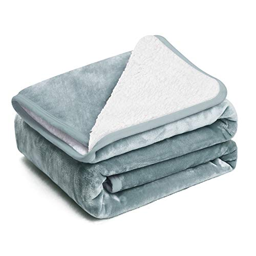 EIUE Polyester Sherpa Fleece Bed Blanket,Soft Thick Nap Blanket Quilt for Sofa, Bed, Office and Outdoor Travel,Warm Fluffy Throw Blanket for Adult and Kids(Darkgray, 60X80)