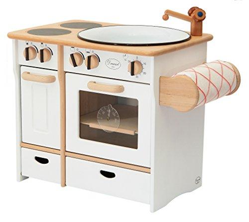 Erst-Holz 932-2044 DL Drewart Kinderküche mit Zubehör Spielküche Massivholz weiß