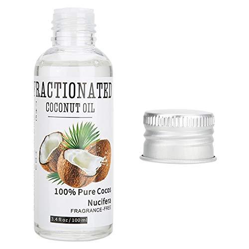 Aceite esencial de extracto de coco para masaje o raspado, aceite de masaje para aliviar la fatiga y el estiramiento de la piel, no se agrega daño a la piel, se usa en la cara, cuello y pierna