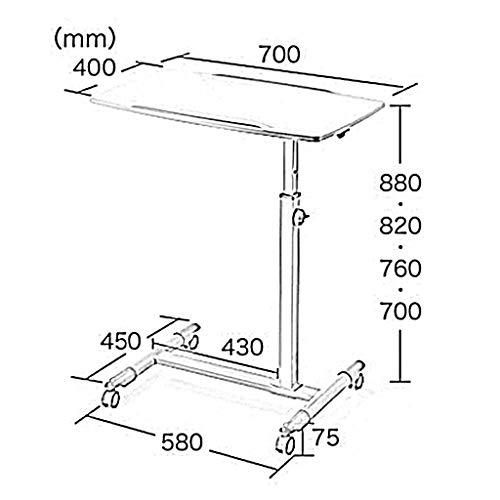 Goede salontafel tv-staande lamp telefoontafel salontafel bijzettafel eiken tafel klaptafel in hoogte verstelbaar massief bureau voor laptop computer C