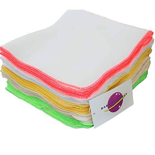 Babymajawelt® Baby Waschlappen, Windel Einlagen 10er SUPER SOFT Molton (Uni (40x40 cm))