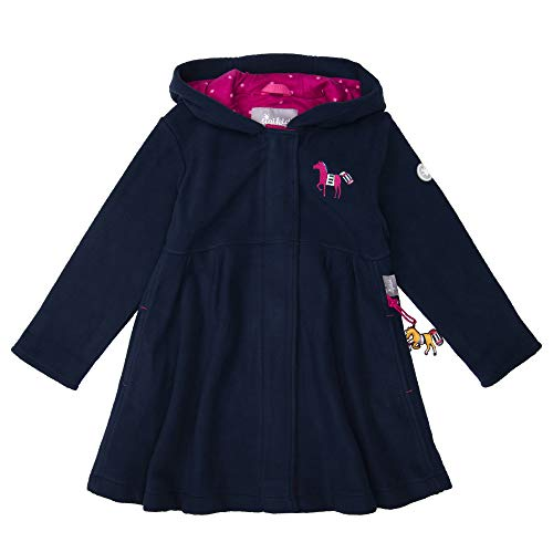 Sigikid Mädchen Fleecemantel mit Kapuze Mantel, Blau (Peacoat 260), (Herstellergröße: 98)