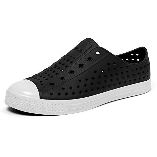 SAGUARO Mens Womens Lightweight Breathable Slip-On Sneaker Garden Clogs Beach Sandals Water Shoes Black