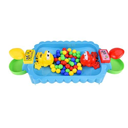 STOBOK Głodna żaba gra Little Frog Eat Beans PK Gry na biurko Małe zabawki Interakcja rodzic-dziecko zabawki dla 2 graczy losowy kolor