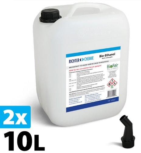 20L (2x10L) Bioethanol 96,6% - Markenprodukt BioFair® - geprüfte Laborqualität