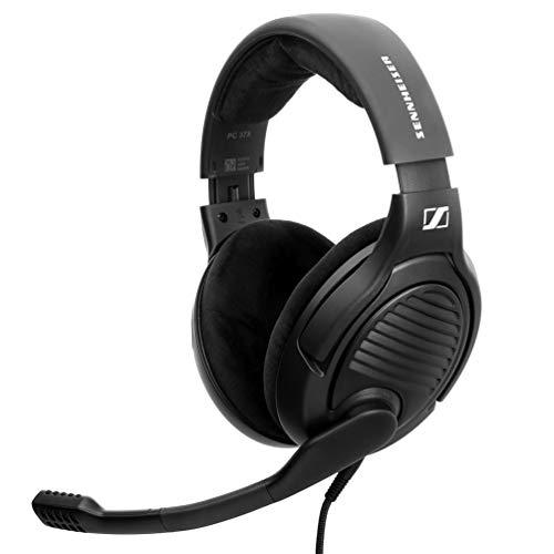 Massdrop x Sennheiser PC37X Gaming-Headset – Geräuschunterdrückendes Mikrofon mit offenem Rücken-Design, 3 m langes abnehmbares Kabel, und Velours-Ohrpolster, Schwarz