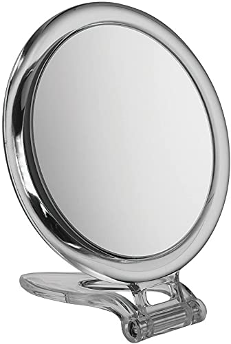 CJDM Espejo de Viaje Circular de metacrilato x 10 aumentos - Espejo de 15 cm de diámetro Viajar