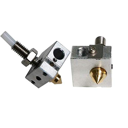 3D Printer Nozzle Suite Z-603S A8 A8S Including Nozzle 0.4mm Heating Block Throat (Size : A8) (Size : A8)