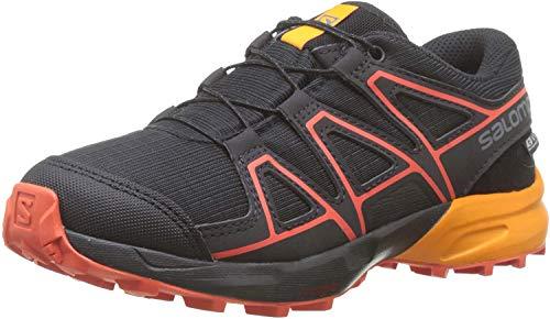 Salomon Kinder Trail Running Schuhe, SPEEDCROSS CSWP J, Farbe: schwarz/orange (Black/Tangelo/Cherry Tomato), Größe: EU 36