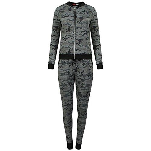8055 605 Vrouwen Stijlvolle Lange Mouw Camouflage Lounge slijtage - Track Suit- Dames Joggingpak