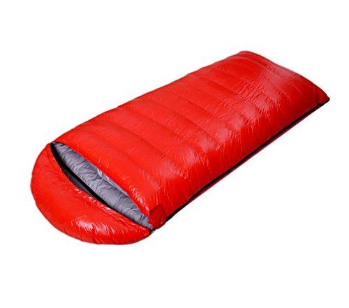 Doublure extérieure d'équipement de camping de sac de couchage de canard 600-2000g , Red , 1000g