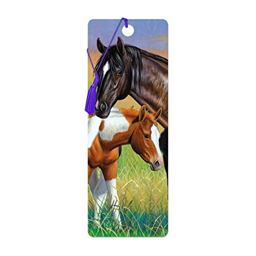 3D LiveLife Bookmark - Mare & Foal from Deluxebase. A Horse Book Marker with lenticular 3D Artwork Licensed from Renowned Artist Cynthie Fisher