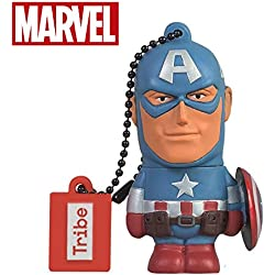 Chiavetta USB 8 GB Captain America - Memoria Flash Drive 2.0 Originale Marvel Avengers, Tribe FD016401